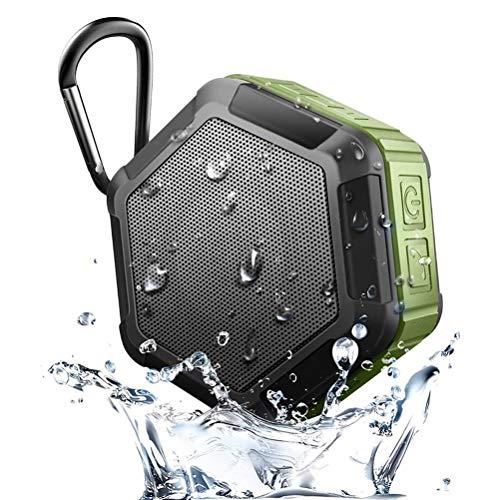 TSP Badradio, wiederaufladbar, Mini, tragbar, kabellos, IP67, wasserdicht, Bluetooth 4.2 + EDR-Lautsprecher, Dusche, Fahrrad-Lautsprecher, wasserdicht, Grün
