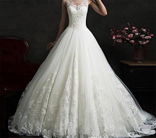 LYJFSZ-7 Hochzeitskleid,Frau Romantische Hochzeitskleid Brautkleid Party Elegant Hochzeitskleid stylish wunderschönen Princess, us10