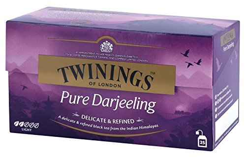 Twinings Speciality - Pure Darjeeling Tea - Precioso y Raro Té Negro Indio - De los Jardines del Himalaya - Sabor que Recuerda a las Uvas Muscat - Perfecto con una Punta de Miel o Azúcar (25 Bolsas)