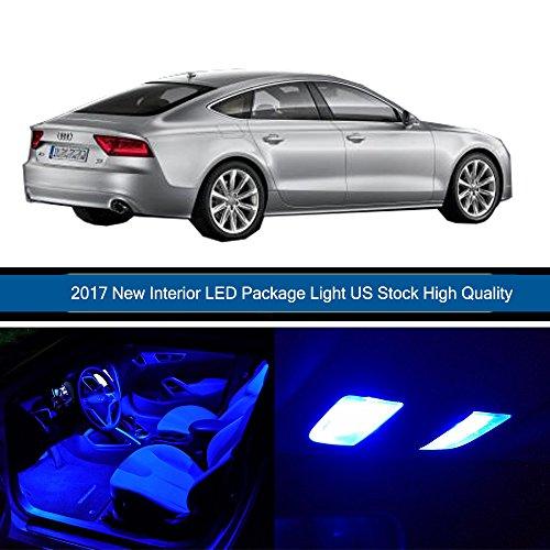 Paquete de 15 bombillas de repuesto OCPTY para Audi A7 Quattro 2012 – 2016 LED luces interiores