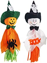 CLISPEED 4 Pcs Halloween Decoration Hanging Ghost Pumpkin Ghost Straw Windsock Pendant for Patio Lawn Garden Party Holiday...