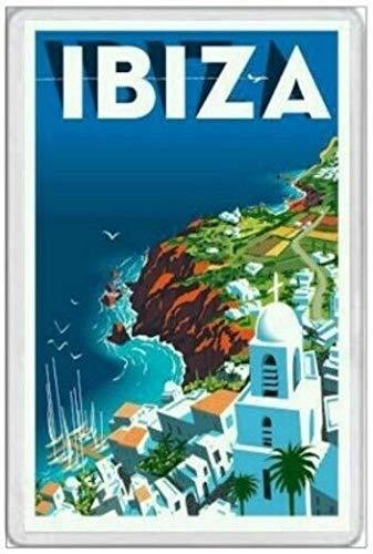 BCTS Ibiza España Mediterráneo Balear Sant Antoni Holiday Outdoor Decor Placa 20 x 12 pulgadas