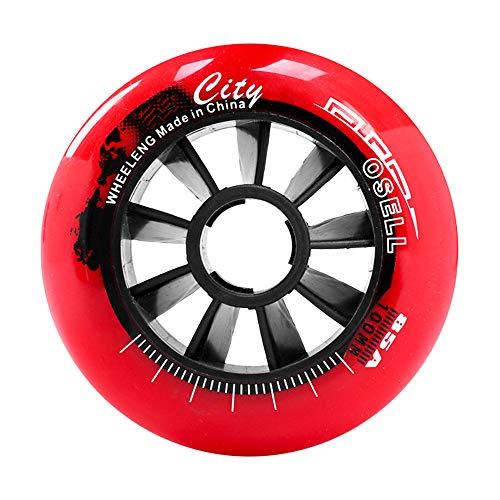 Inline Skates Rollen 90mm 100mm 110mm Downhill-Speed-Skating-Räder 85A-Ersatzräder für Hockey-Skates ohne Lager 8er-Pack,Rot,90mm