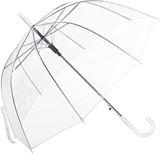 Clear Umbrella, Mirviory Transparent Bubble Dome Umbrella, Lightweight Easy Carrying Suitable For Women And Girls, Wedding Decoration Umbrella