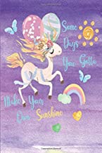 Some Days You Gotta Make Your Own Sunshine: Dot Grid Notebook, Inspirational Journal & Doodle Diary Dancing Unicorn 6x9 Purple Cover