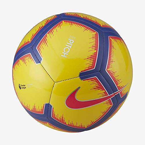 Nike Unisex– Erwachsene PL NK PTCH-FA18 Fußballbälle, Yellow/Purple/Flash Crimson, 5