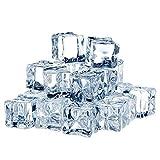 TonJin 35PCS Cubos de Hielo Artificiales Cubo de Hielo Cuadrado de acrílico de imitación cristalina para Accesorios de fotografía Piezas de Centro decoración del Partido