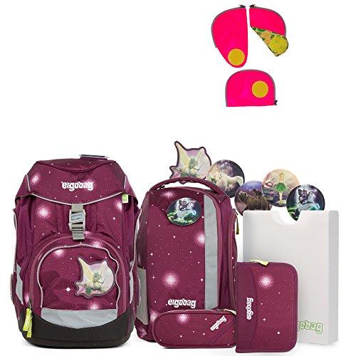 Ergobag Pack FeenzauBär Special Edition Schulrucksack-Set 6tlg + Sicherheitsset Pink