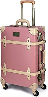 HANAsim トランク NN(S~LLサイズ) キャリーケース かわいい 人気 TSAロック 4輪 スーツケース お洒落な旅行カバン インテリア レトロ アンティーク