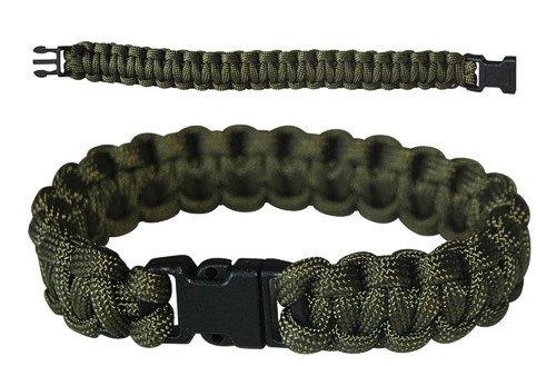 CN Outdoor PARACORD Survival Militär Armband Kunststoff-Schließe Grün Oliv