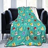 Kids Adult Animal Crossing Fluffy Throw Blanket Blathers Celeste Brewster K.K. Slider