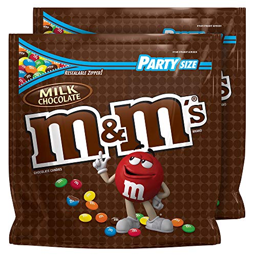 M&M'S Milk Chocolate Candy Party Size Bag, 38-Ounce