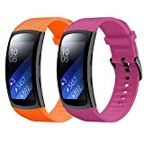 for Gear Fit 2 Pro Band / Gear Fit 2 Band, Junboer Soft Silicone Sport Wristbands Replacement Strap with Classic Clasp for Women Men Compatible with Samsung Gear Fit 2 Band/ Gear Fit 2 Pro Band