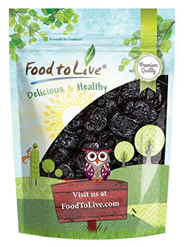 Pitted Prunes, 2 Pounds — Whole Dried Plums, Unsulfured, Unsweetened, Non-Infused, Non-Irradiated, Vegan, Raw, Bulk
