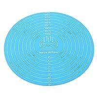 NUSSKACKA クッキングマット 製菓マット 目盛り付き キッチン パン/クッキー/ピザ ベーキングマット 調理 製菓道具 テーブルマット 青い