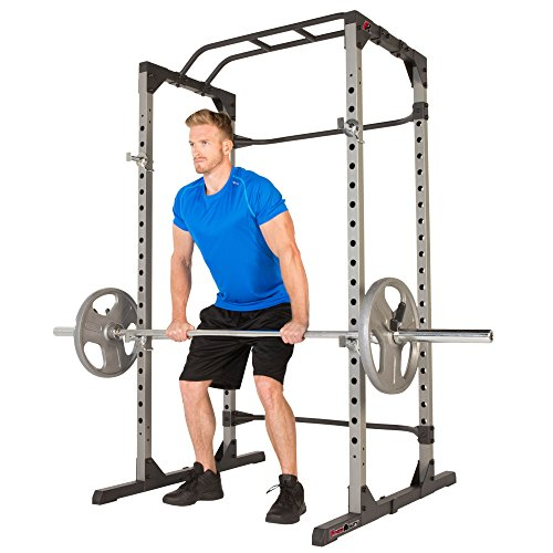 Fitness Reality 810XLT Super Max Power Cage | Optional Lat Pull-down Attachment and Adjustable Leg Hold-down | Power Cage Only
