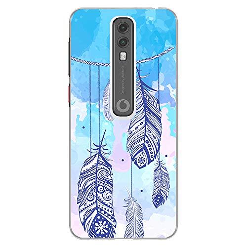 BJJ SHOP Transparent Hülle für [ Vodafone Smart V10 ], Klar Flexible Silikonhülle, Design: Dreamcatcher mehrfarbiger Steigungshintergrund
