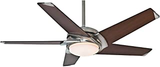 Casablanca Indoor Ceiling Fan with LED Light and remote control - Stealth 54 inch, Brushed Nickel, 59164