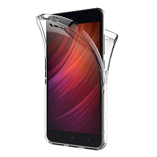 AICEK Funda Xiaomi Redmi Note 5A, Transparente Silicona 360°Full Body Fundas para Xiaomi Redmi Note 5A Carcasa Silicona Funda Case (5,5 Pulgadas)