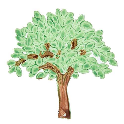 efco-Decorazione Natalizia a Forma di Albero di Natale, Colore: Marrone, Verde, 60 x 58 mm
