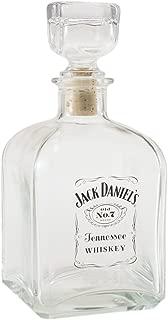 Jack Daniel's Licensed Barware Label Logo Square Decanter