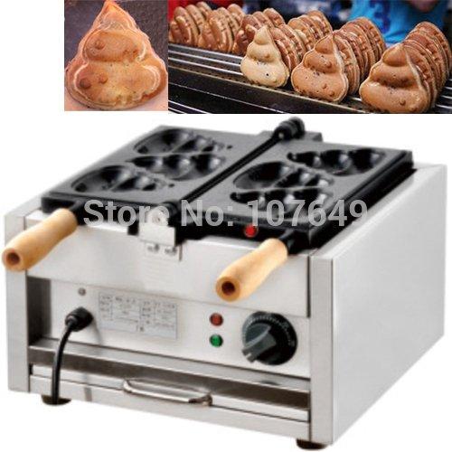 Hot Sale 110V/220V Commercial Use Electric Burning Poo Waffle Maker Iron Machine Baker