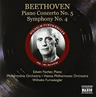 Beethoven: Piano Concerto, No. 5 / Symphony No. 4 by Edwin Fischer (2010-06-29)