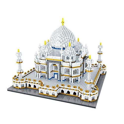 Nanoblock 3950 Piezas Taj Mahal Hito mundialmente Famoso Nano Mini Kits de Bloques de construcción Construcción Infantil Educativo DIY Juguetes Regalos