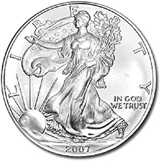 2007-1 Ounce American Silver Eagle Low Flat Rate Shipping .999 Fine Silver Dollar Uncirculated US Mint