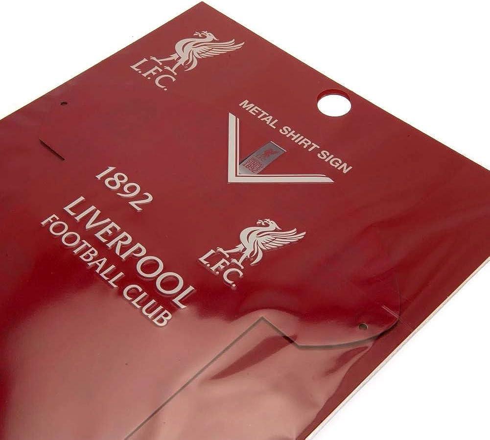 Letrero en forma de camisa del Liverpool FC