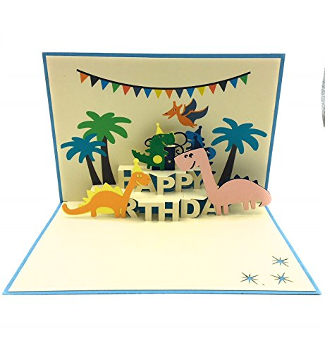Perfekte Geburtstagskarte für eine Dinosaurier Liebhaber. Einzigartige, bunt, und Fun Karte Meant To Surprise Dinosaurier Enthusiasten
