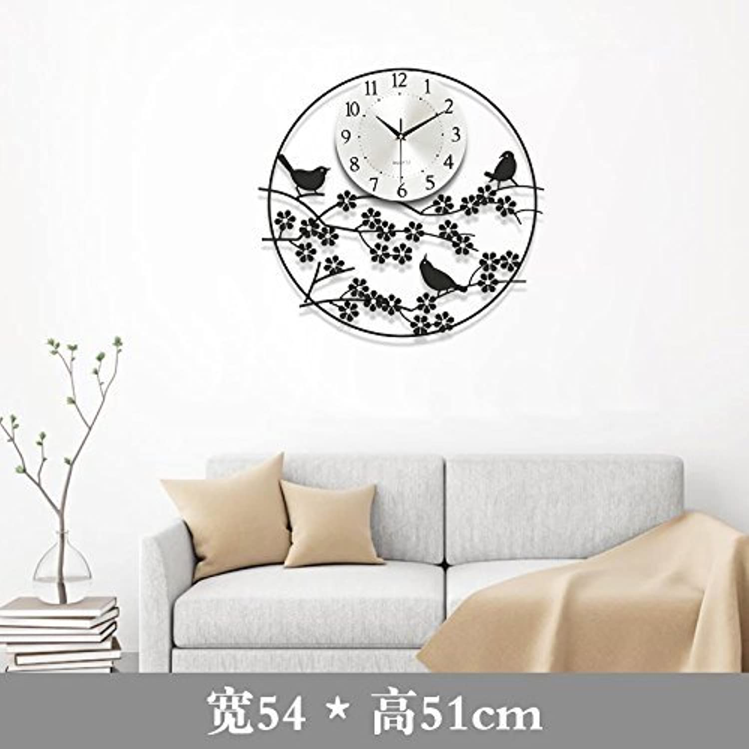 Non-Ticking Silent Modern Matt Wall Clock DIY for Living Room Bedrooms Office Kitchens Black