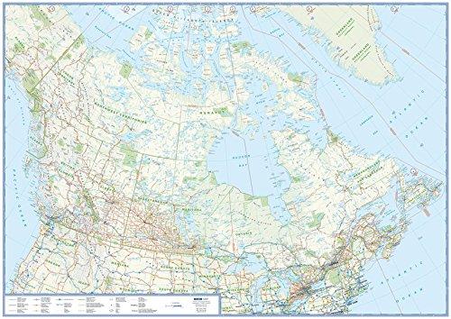 Übersichtskarte Kanada: plano in Versandrolle, 1:6 Mio. (Busche Planokarten)