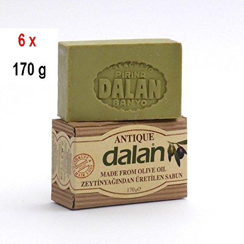6 x Dalan d'Olive 100% Olivenölseife - Antique seife - 170 g