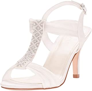Pearl and Crystal T-Strap Mid-Heels Style ANONO21
