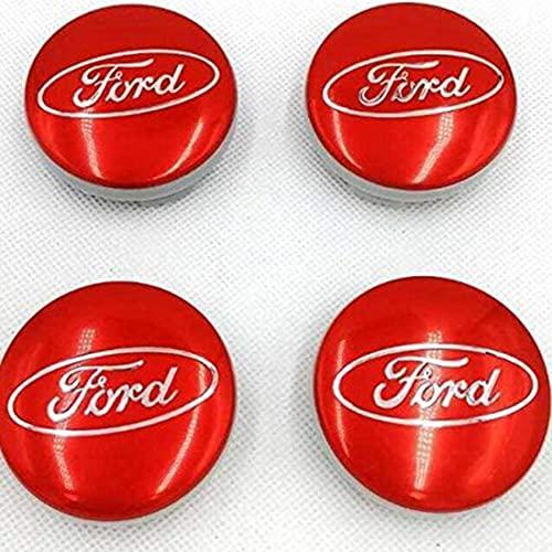 4Pcs Coche Tapas Centrales de Rueda de Aleación para Ford Mk2 Mk3 Mk4 Mk5 Mk7 Fiesta Focus Fusion Escape, Impermeable Antióxido decoración Accesorios, Modificadas Hub Centre Caps con Emblema, 54MM