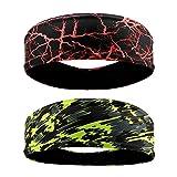 QKURT Deportes Diadema (2PCS), Unisex Sweatband Yoga Fitness Sudaderas para Correr, Senderismo,...