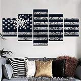 45Tdfc 5 StüCk Kunst Poster Dallas Cowboys USA-Flagge # 1
