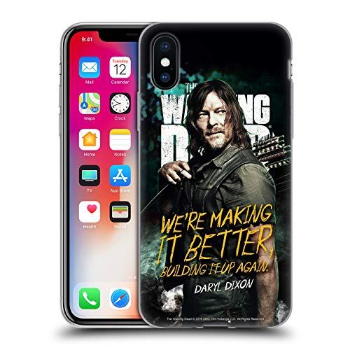 Head Case Designs Offizielle AMC The Walking Dead Daryl Staffel 9 Zitate Soft Gel Huelle kompatibel mit iPhone X/iPhone XS