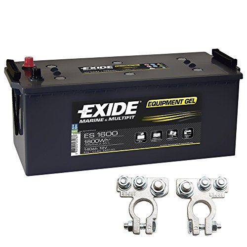 Exide Equipment Gel Batterie ES 1600 12V 140Ah inkl. Polklemmen Boot Solar Wohnmobil