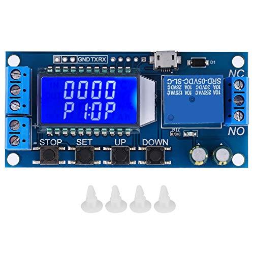 Temporizador de retardo de apagado, temporizador de retardo de apagado industrial digital de 6-30 V, para dispositivos de 30 V 5 A dentro de dispositivos de 220 V 5 A