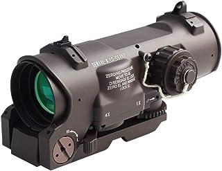 戦術的なライフルスコープ1x-4x固定デュアルパーパス光景赤点灯赤ドットサイト用ライフル狩猟射撃DE色