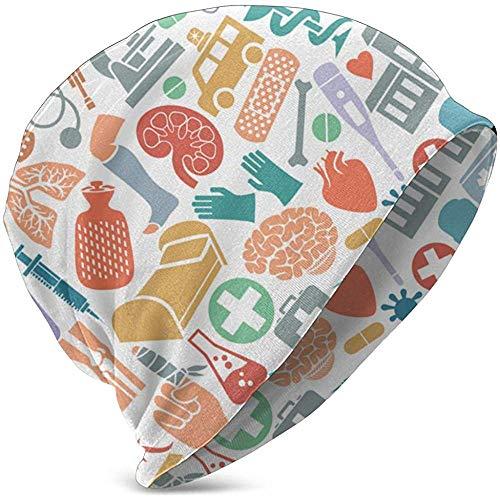 Gorro de Enfermera de Serpiente, botiquín de Primeros Auxilios, máscara, corazón, muleta Sombrero de Punto para niños Gorro de Dormir Suave Sombrero Holgado de Moda
