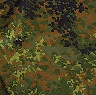 TOLKO Camouflage Stoff im Bundeswehr Armee Flecktarn | Robust Farbecht UV-beständig | Uniform Meterware aus Baumwolle | mittelschwer 160cm breit Bundeswehr