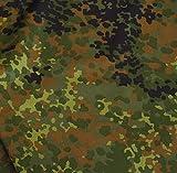 TOLKO Camouflage Stoff im Bundeswehr Armee Flecktarn |