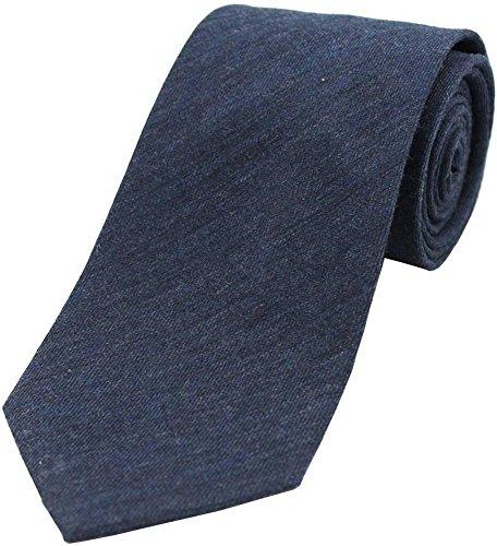 David Van Hagen Plaine Marine Laine cravate Rich de