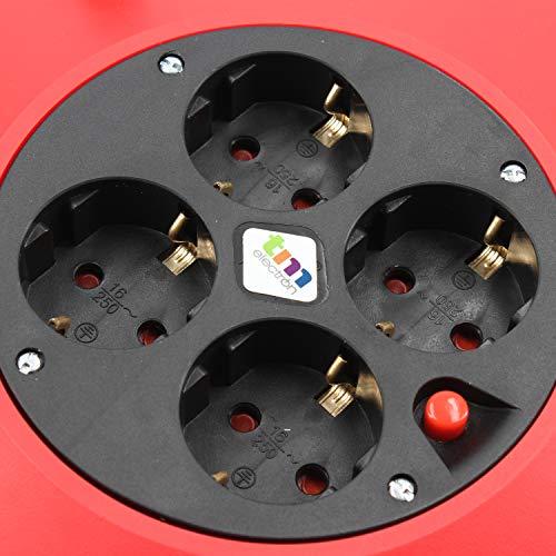 TM Electron TMUAD215 - Cable de alimentación en Bobina Enrollable ...