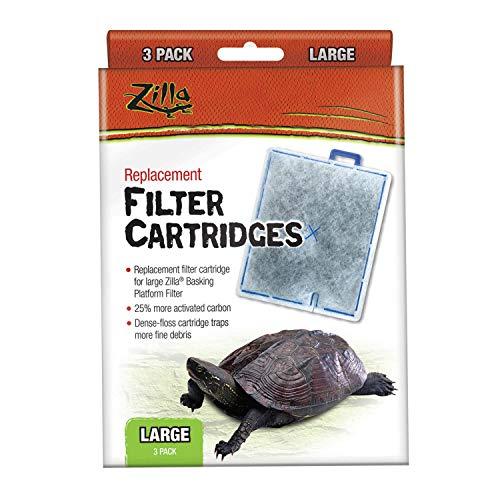 Zilla Reptile Terrarium Filter Replacement Cartridges, Large, 3-Pack