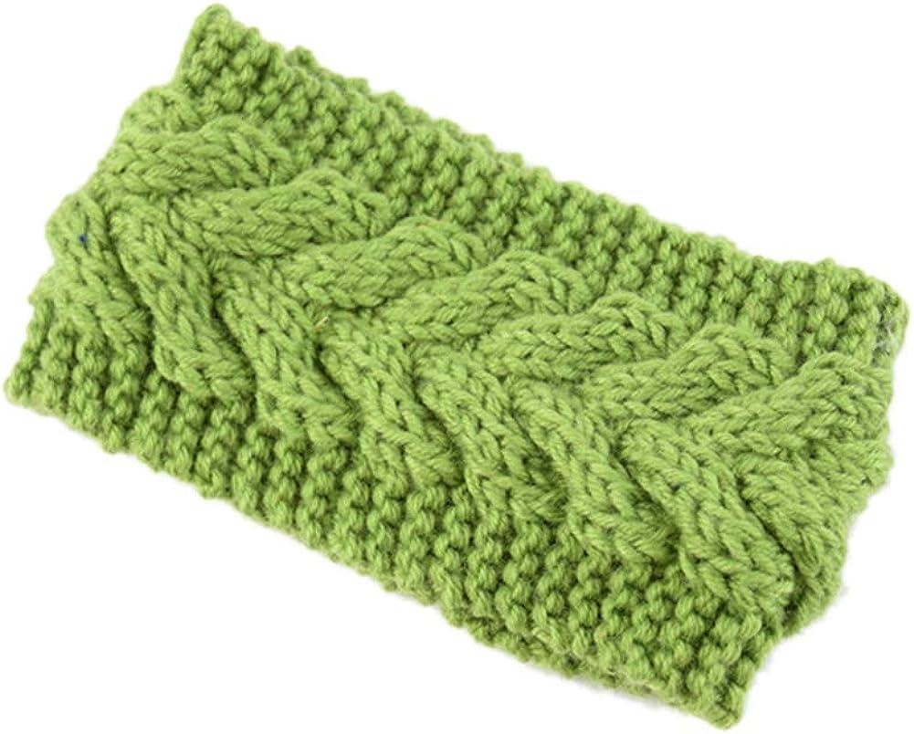 LeJulyeekay Women Fashion Crochet Headband Warm Hair Wrap Winter Knit Ear Warmer