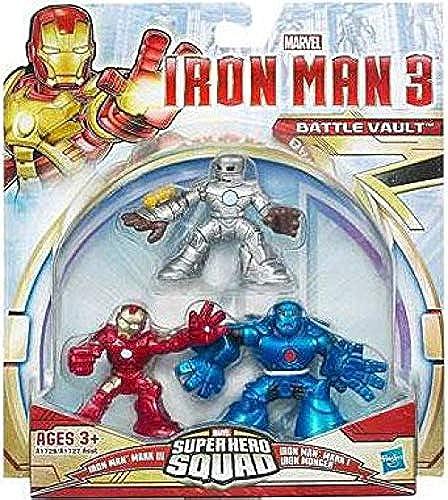 Iron Man 3 Super Hero Squad Battle Vault Figures